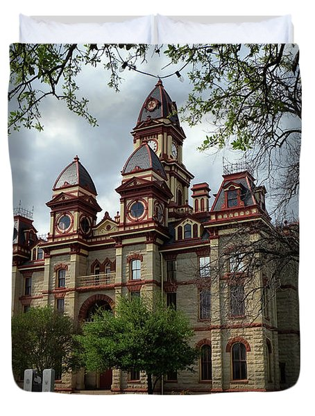 Caldwell County Courthouse Duvet Cover