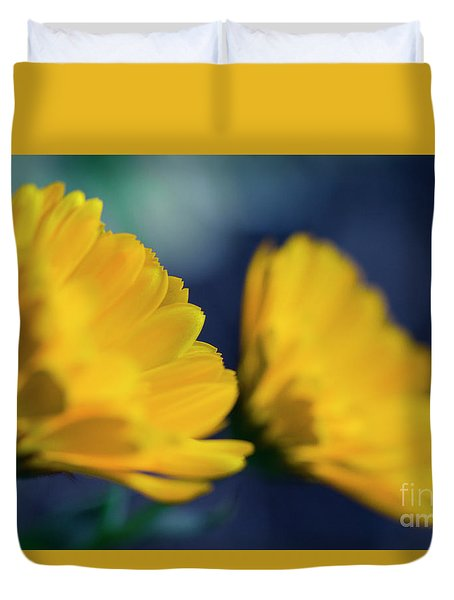 Duvet Cover featuring the photograph Calendula Flowers by Sharon Mau