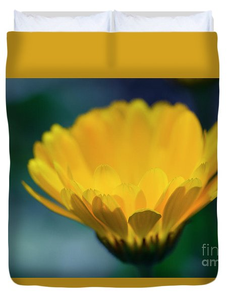 Duvet Cover featuring the photograph Calendula by Sharon Mau