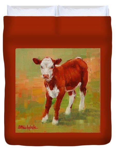Calf Miniature Duvet Cover by Margaret Stockdale