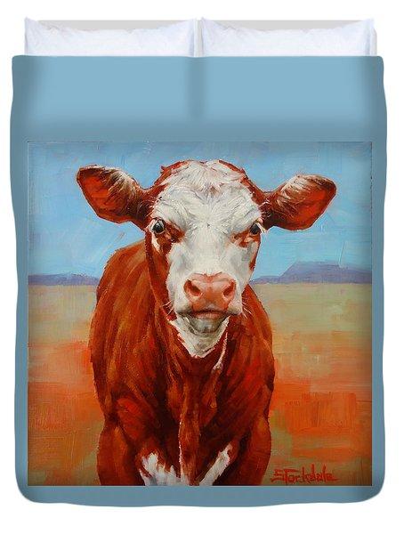Calf Stare Duvet Cover by Margaret Stockdale