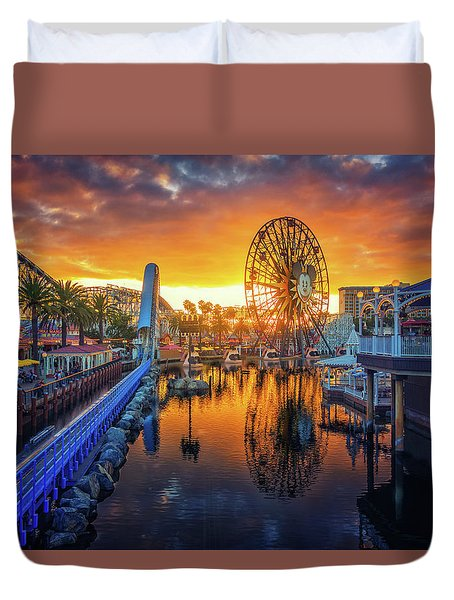Calfornia Sunset Duvet Cover