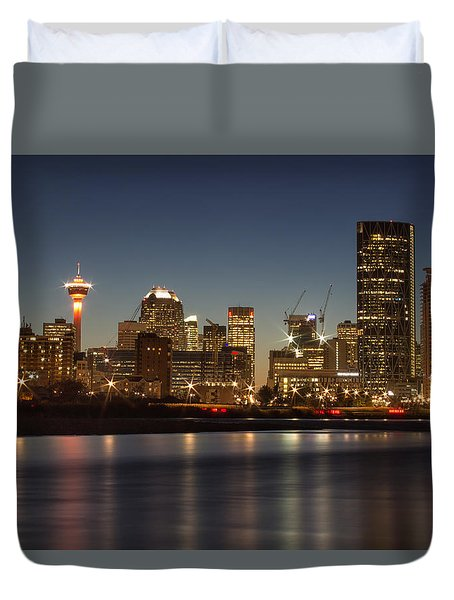 Calgary Lights Duvet Cover