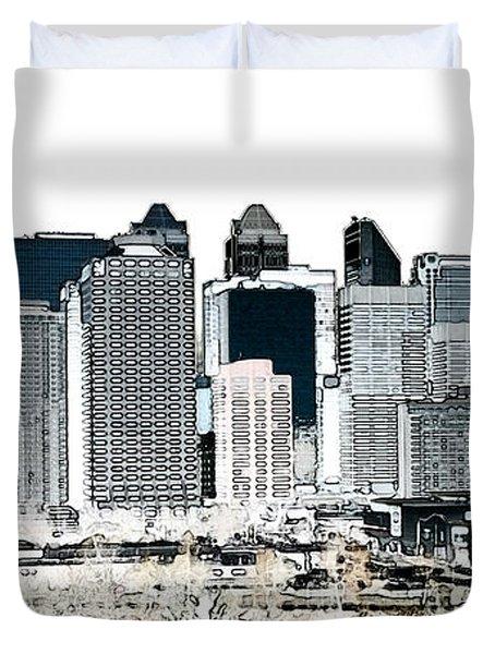 Calgary Skyline 1 Duvet Cover by Stuart Turnbull