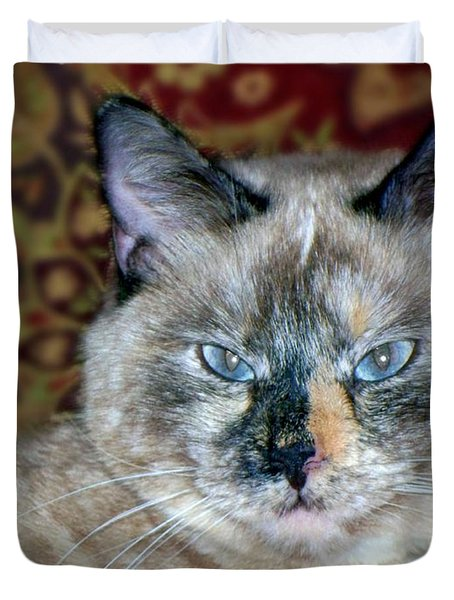 Duvet Cover featuring the photograph Cali-mese by Betty Northcutt