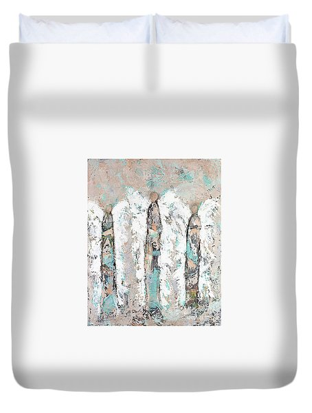 Calico Angel Trio Duvet Cover by Kirsten Reed