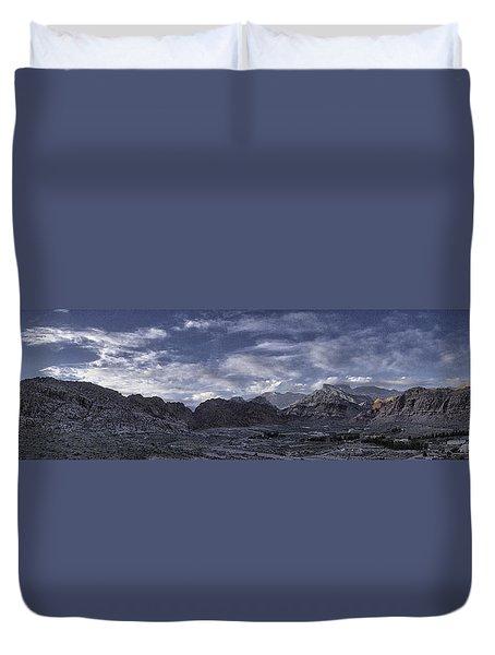 Calico Basin Panorama Duvet Cover