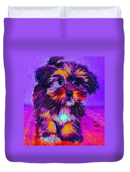Calico Dog Duvet Cover