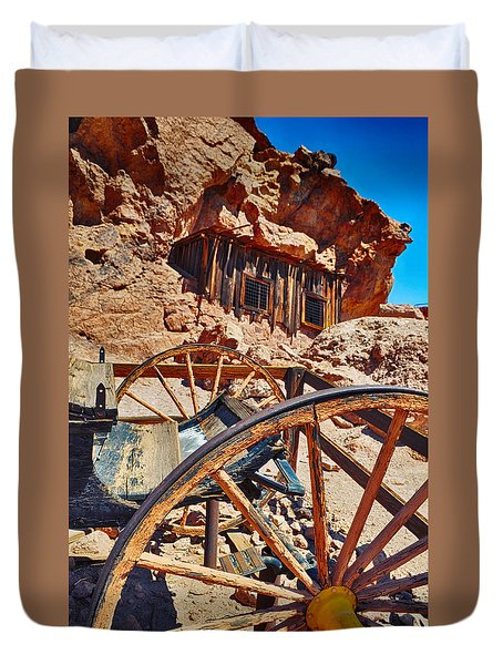 Calico Ghost Town Mine Duvet Cover