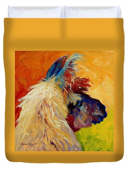 Calico Llama Duvet Cover