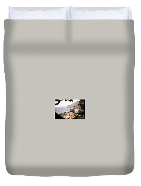Calif Coast Drive Ocean View Duvet Cover
