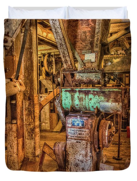 Duvet Cover featuring the photograph California Pellet Mill Co by Thom Zehrfeld