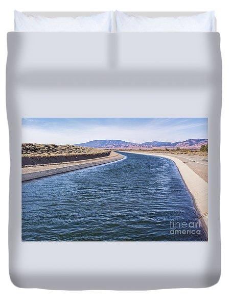 California Aqueduct S Curves Duvet Cover