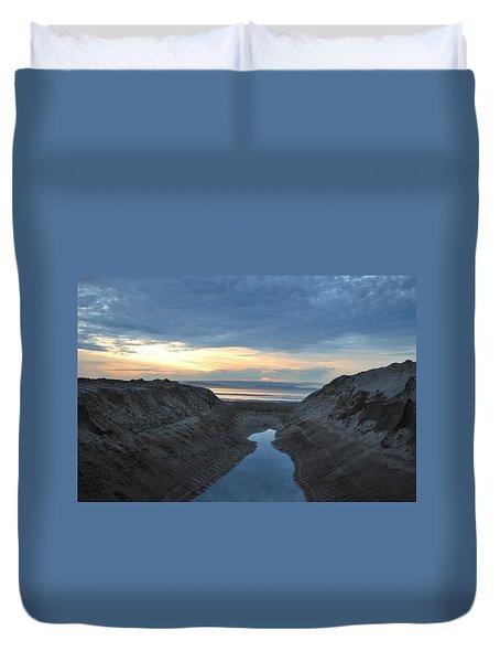 California Beach Stream At Sunset - Alt View Duvet Cover