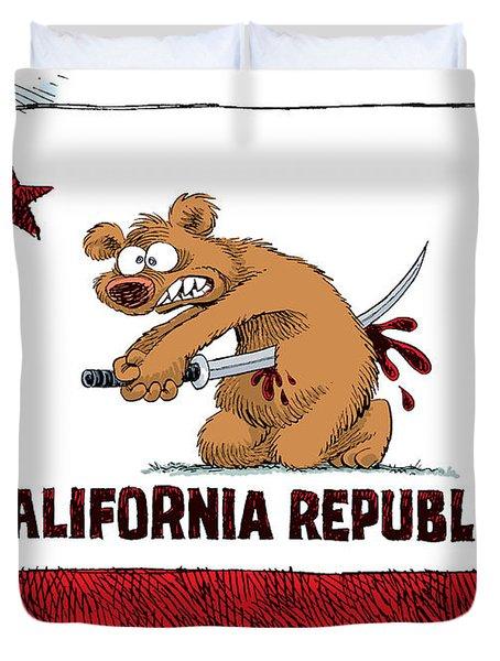 California Budget Harakiri Duvet Cover