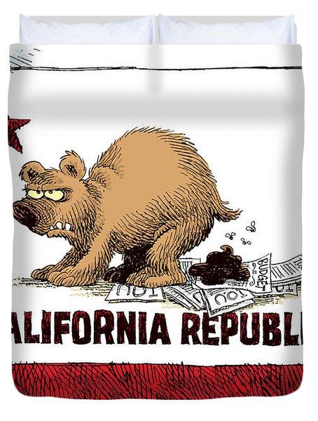 California Budget Iou Duvet Cover