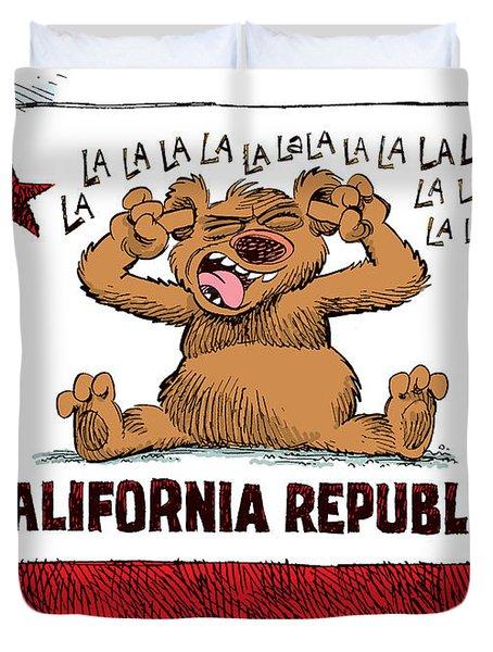 California Budget La La La Duvet Cover