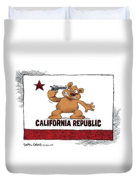 California Budget Suicide Duvet Cover