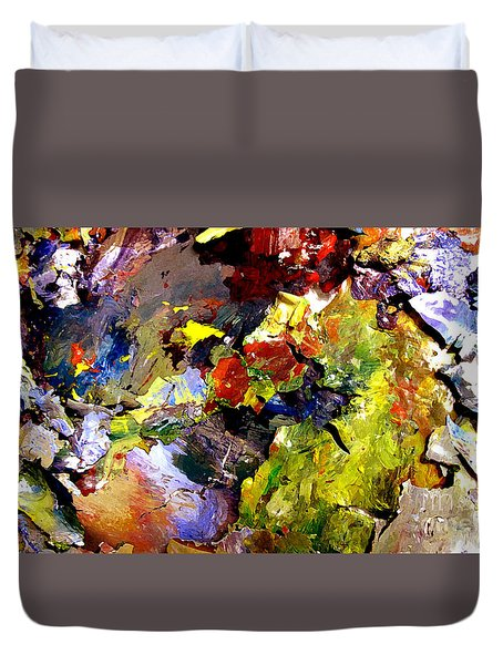 Duvet Cover featuring the painting California Chjroma by Charlie Spear