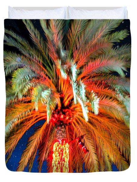 California Christmas Tree Duvet Cover by Robert Hebert