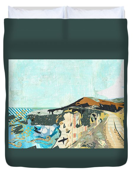 California Coast Collage Duvet Cover by Claudia Schoen