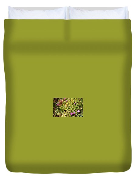 California Coast Ice Plant Duvet Cover