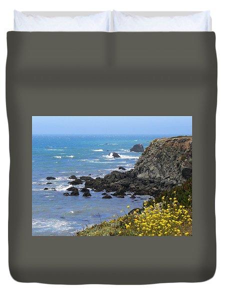 California Coast Duvet Cover by Laurel Powell