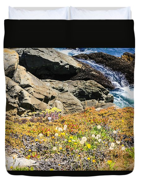 California Coastal Flora Duvet Cover