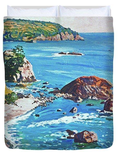 California Coastline Duvet Cover