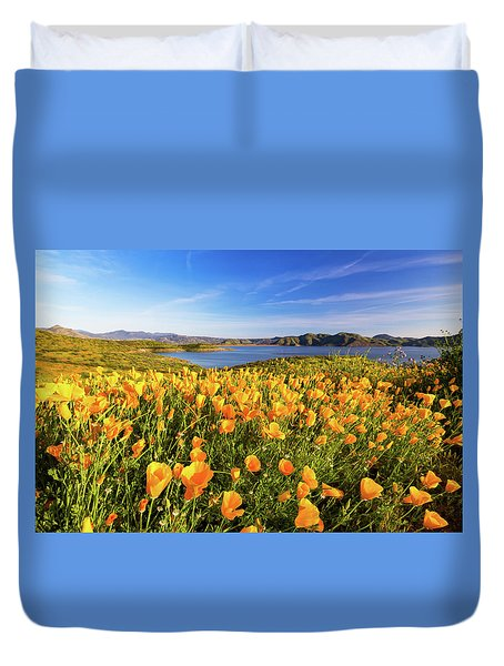 California Dreamin Duvet Cover by Tassanee Angiolillo