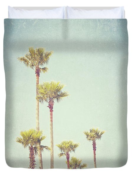 California Dreaming - Palm Tree Print Duvet Cover