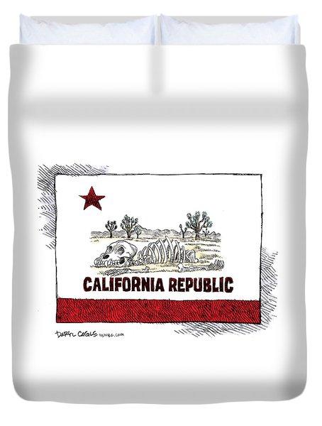 California Drought Duvet Cover