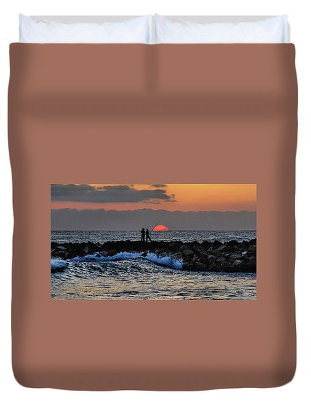 California Evening With Sandstone Effect Duvet Cover