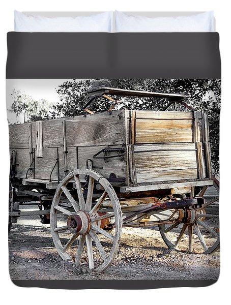 California Farm Wagon Duvet Cover