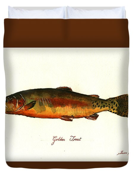 California Golden Trout Fish Duvet Cover