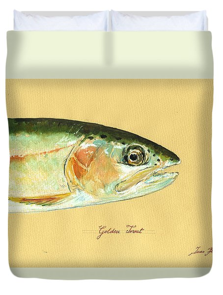 California Golden Trout Duvet Cover