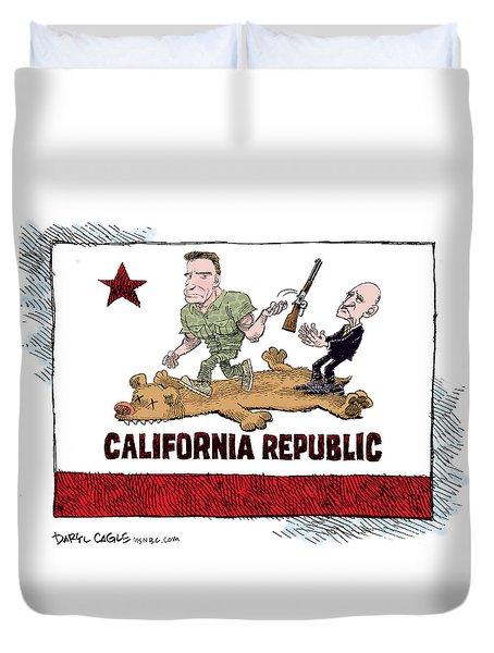California Governor Handoff Duvet Cover