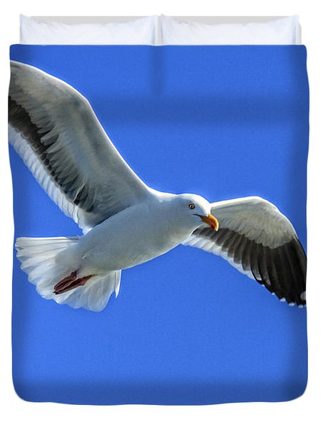 Duvet Cover featuring the photograph California Gull by Robert Bales