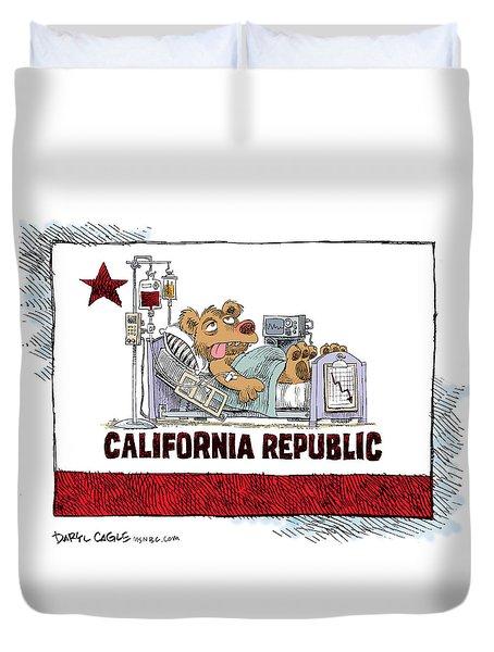 California Is Sick Duvet Cover