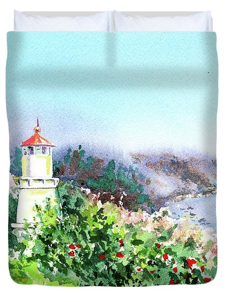 California Lighthouse Trinidad Pacific Ocean Duvet Cover