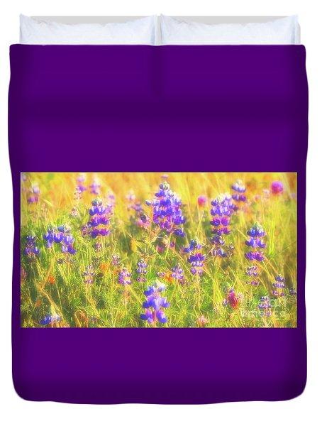 California Lupines Redux Duvet Cover