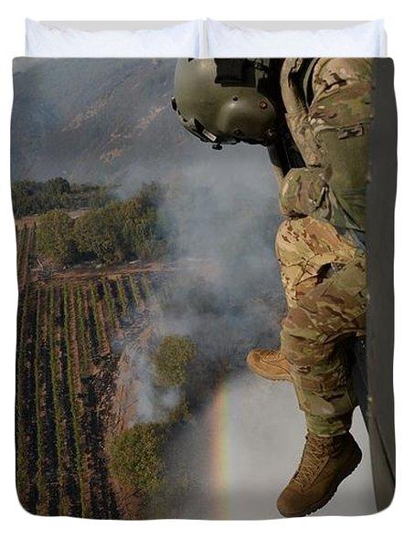 California National Guard Duvet Cover