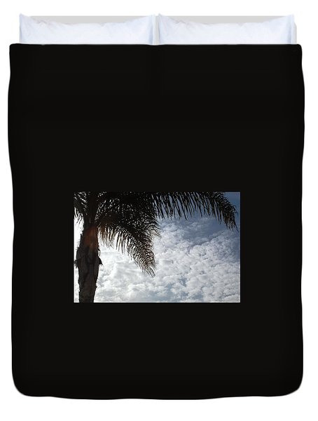 California Palm Tree Half View Duvet Cover