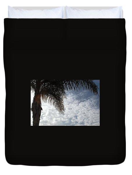 California Palm Tree Half View Duvet Cover