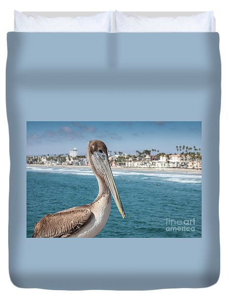 California Pelican Duvet Cover