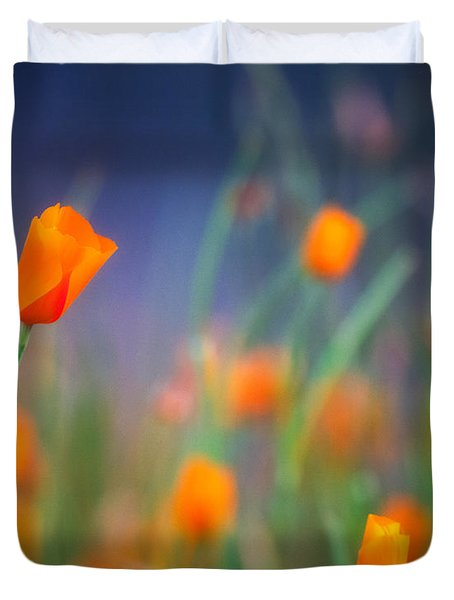 California Poppies 2 Duvet Cover