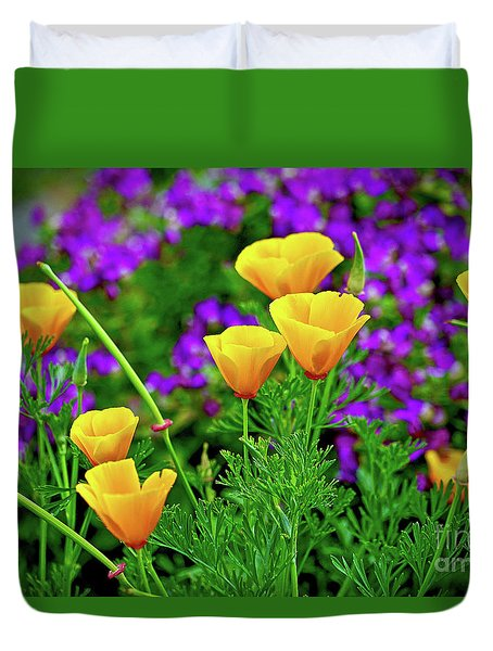 California Poppies Duvet Cover