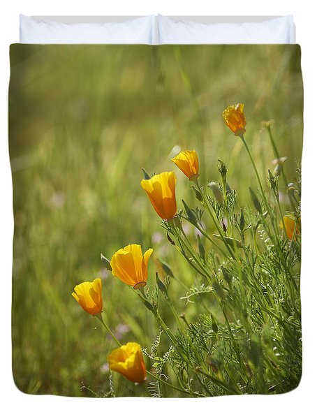 California Poppy Duvet Cover by Doug Herr