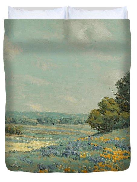 California Poppy Field Duvet Cover