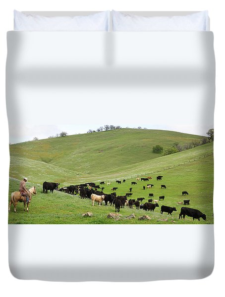 California Ranching Duvet Cover